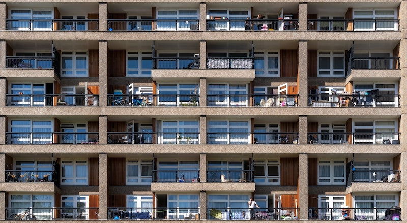 Block of flats in East London