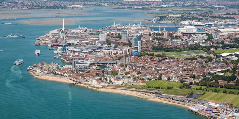 Aerial photo of Portsmouth