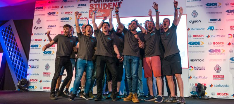 University electric car racing team wins at Silverstone