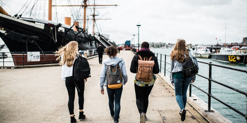 Students at the Historic Dockyard