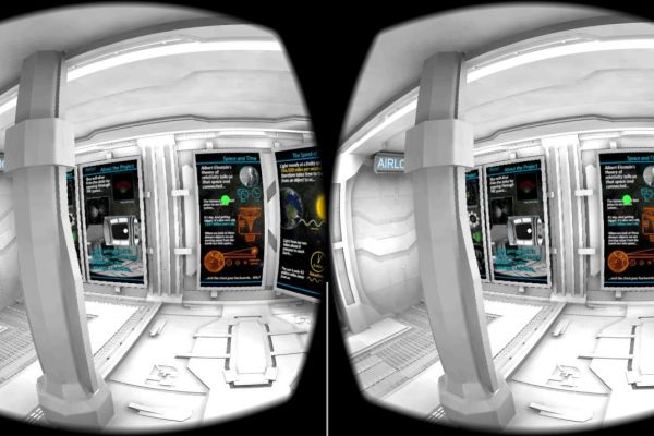 Screenshot of the app inside the spaceship