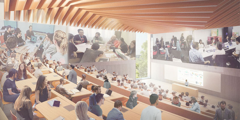 lecture theatre illustration