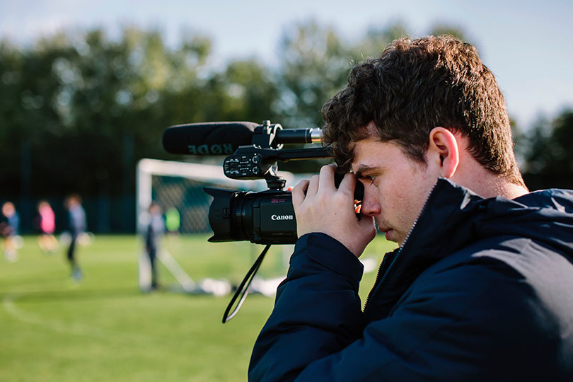 Portsmouth graduate Ollie Marsh with camera