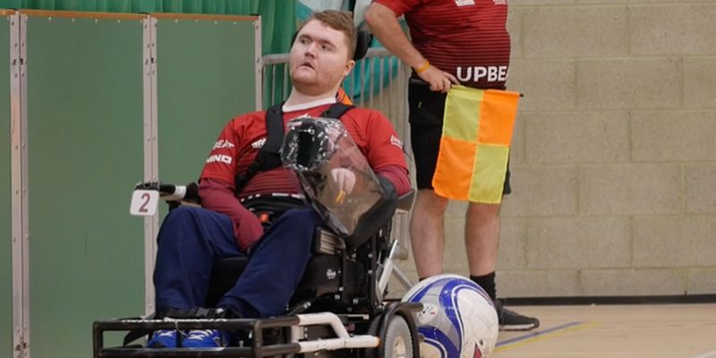 Man in wheelchair participating in sports