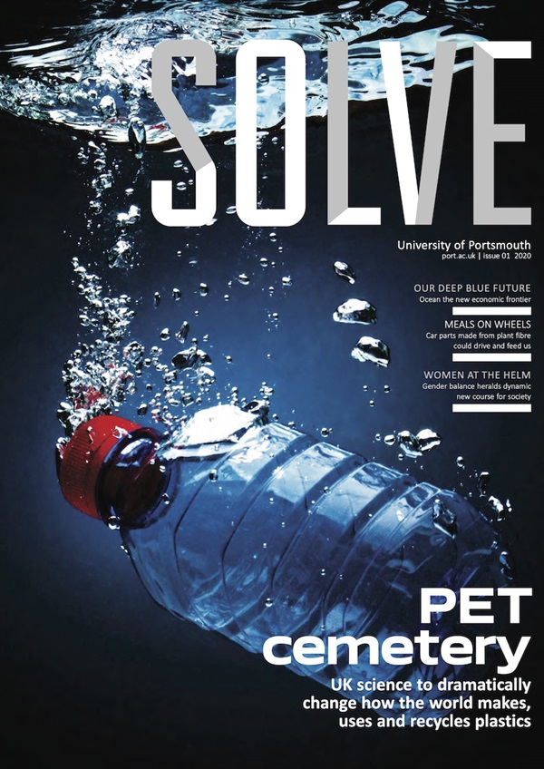Solve magazine front cover, University of Portsmouth