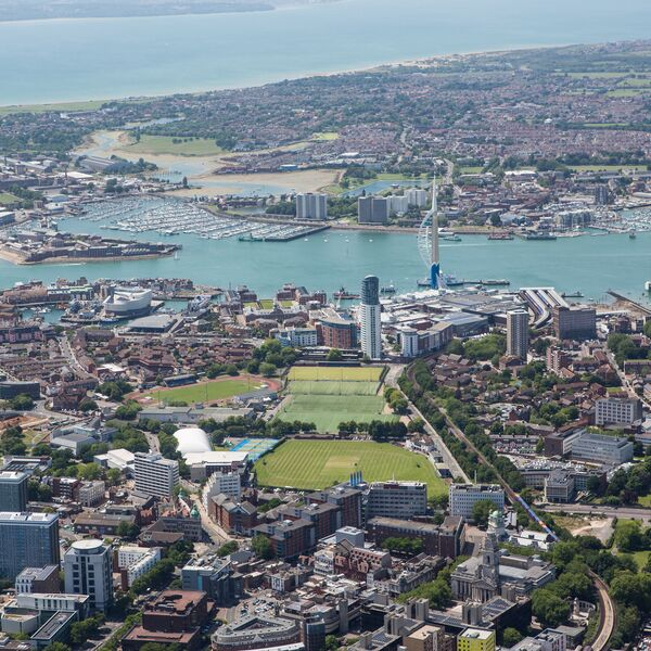 ariel view of portsmouth