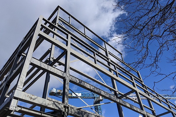New sports facility steel frame